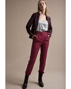 Красные брюки в клетку Emka D156/savano