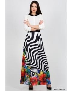 Летняя длинная юбка Emka Fashion 467-marka