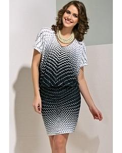 Черно-белое летнее платье TopDesign A4 039