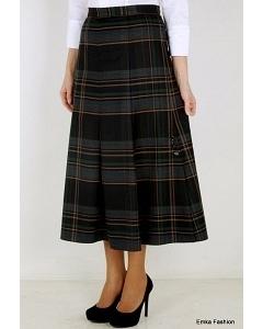 Длинная юбка в клетку Emka Fashion 426-dabria