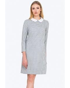 Клетчатое платье с воротничком Emka PL527/halsey