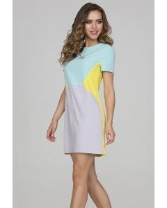 Короткое трёхцветное платье Donna Saggia DSP-317-47
