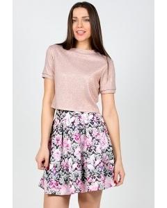 Летняя юбка Emka Fashion 475-pomeranz
