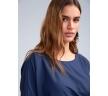 Блузка синего цвета со складкой Emka B2418/vidavi