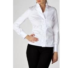 Белая офисная блузка
