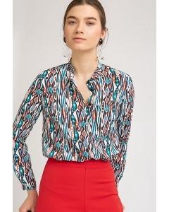 Блузка с ярким принтом Emka B2300/wineberg