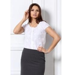 Белая повседневная блузка