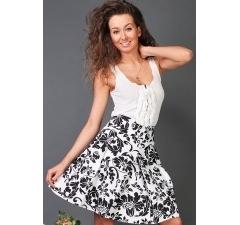 Чёрно-белая юбка из хлопка