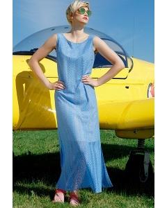 Летнее платье без рукавов синего цвета Flaibach 066S8