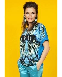 Блузка бирюзового цвета TopDesign A5 031