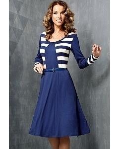 Платье синего цвета TopDesign   B3 053