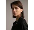 Черная блузка с воротником-бантом Emka B2396/ivory