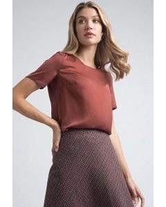 Терракотовая блуза Emka B2559/chary
