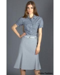 Светлая расклешенная юбка Emka Fashion