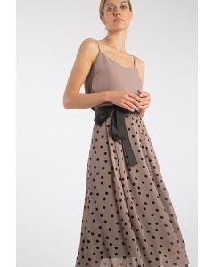 Шифоновая юбка в горох Emka S522/maren