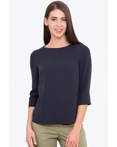 Блузка тёмно синяя с рукавом 3/4 Emka b 2204/kolumbina