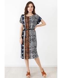 Летнее трикотажное платье TopDesign A21061