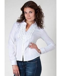 Белая офисная блузка Golub