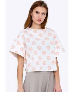 Укороченная блузка с широкими рукавами Emka b 2202/minerva