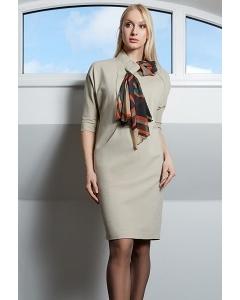 Бежевое платье TopDesign B9 035