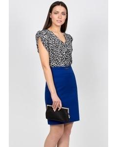 Прямая юбка синего цвета Emka Fashion 480-sienna