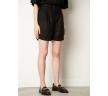Чёрные женские шорты Emka P005/plain