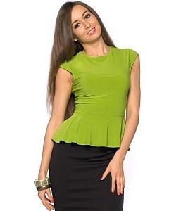 Салатовая блузка Donna Saggia | DSB-19-56t
