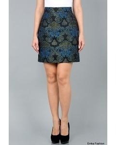 Прямая короткая юбка Emka Fashion 518-rebecca