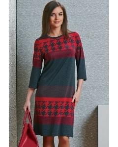 Трикотажное платье из осеней коллекции TopDesign B4 021