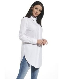 Удлиненная рубашка белого цвета Enny 250188