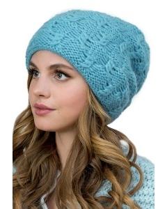 Женская шапка голубого цвета Landre Астра