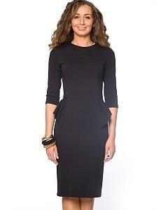 Черное платье на молнии   DSP-61-4t