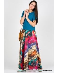 Летняя юбка Emka Fashion 460-maroon