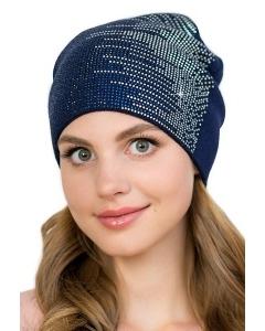 Женская шапка украшенная стразами Landre Кристина