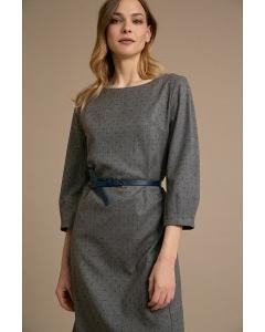 Платье прямого кроя с рукавом 3/4 Emka PL1048/bikara