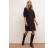 Платье А-силуэта классического чёрного цвета Emka PL1072/premiera