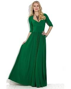 Длинное зеленое платье Donna Saggia DSP-139-73t