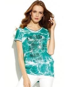 Бирюзовая блузка из тонкого трикотажа Zaps Wida
