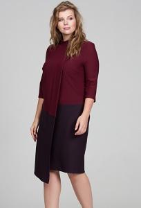 Трикотажное платье из тканей двух цветов Donna Saggia DSPB-15-77t