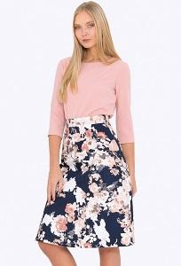 Хлопоковая летняя юбка Emka 684/zerin
