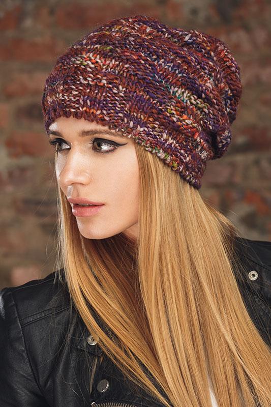 Вязание шапок из меланжевых ниток