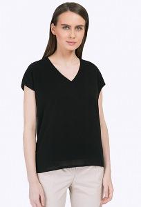 Чёрная блузка с V-вырезом Emka B2314/ludovica