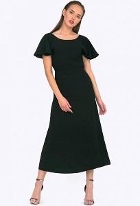 Длинное нарядное платье чёрного цвета Emka PL599/banksy