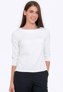 Белая блуза с рукавом 3/4 Emka b 2204/sevana