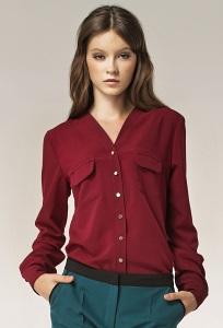 Бордовая блузка Nife B31