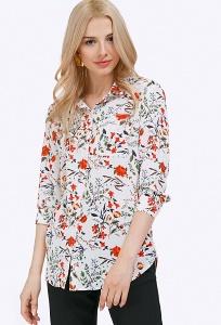 Яркая блузка рубашечного кроя Emka B2198/rodomila