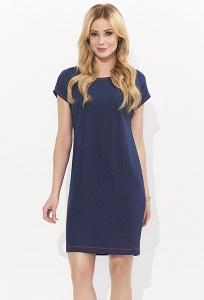 Летнее тёмно-синее платье из хлопка Zaps Loretta
