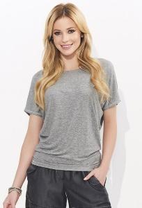Блузка серого цвета со сборкой сзади Zaps Mila