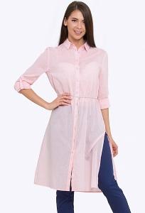 Розовое платье-рубашка Emka Fashion PL-625/acura