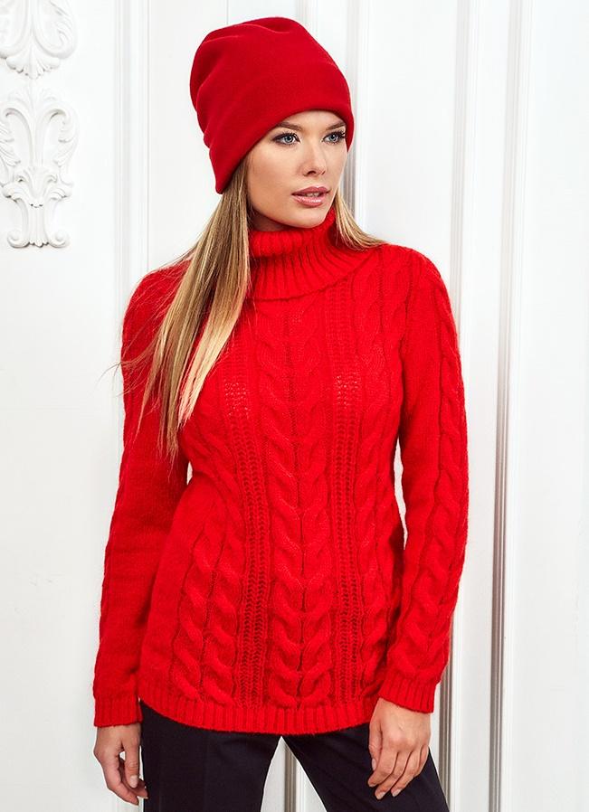 Красный женский свитер доставка
